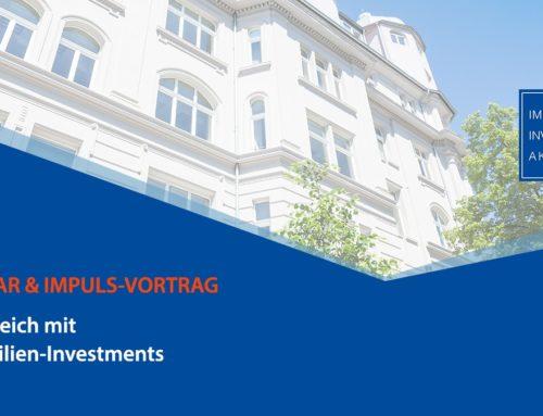 """Webinar & Impuls-Vortrag: """"ErfolgReich mit Immobilien-Investments"""""""